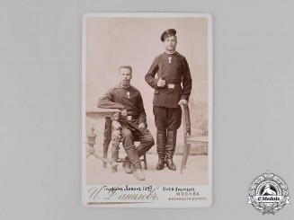 Russia, Imperial. A 1897 Studio Photo of Imperial Army Personnel