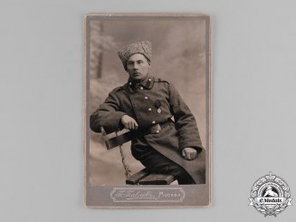 Russia, Imperial. A Studio Photo of an Imperial Army Enlisted Man