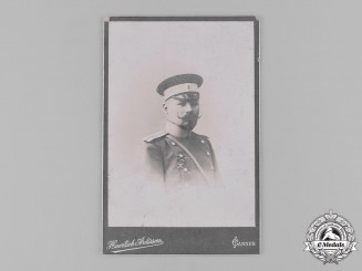 Russia, Imperial. A Studio Photo of an Imperial Army Officer