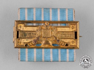 Bavaria, Kingdom. A 25-Year Honour Badge for Fire Brigade Service, by Weiss & Co.