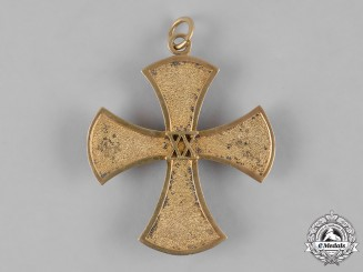 Baden, Grand Duchy. A 20-Year Long Service Cross for Sisters of the Baden Women's League to Elisabeth Bauer, ca. 1933