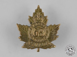 Canada, CEF. A 58th Infantry Battalion Cap Badge, c.1915