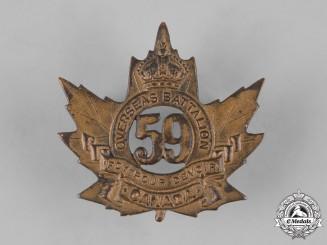 Canada, CEF. A 59th Infantry Battalion Cap Badge, c.1915