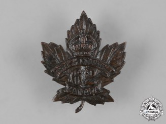 "Canada, CEF. A 62nd Infantry Battalion ""British Columbia Battalion"" Cap Badge, by O.B.Allan, c.1915"