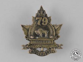 "Canada, CEF. A 79th Infantry Battalion ""Manitoba Battalion"" Cap Badge, c.1915"