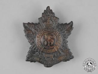 "Canada, CEF. A 85th Infantry Battalion ""Nova Scotia Highlanders"" Glengarry Badge, c.1915"