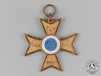Germany, Weimar Republic. A Veterans Association 25-Year Membership Cross