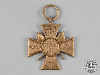 Germany, Imperial. A Berlin Veterans Association Cross by Kleist