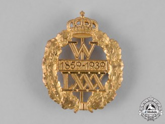 Germany, Weimar. A Kaiser Wilhelm II 80th Birthday Badge