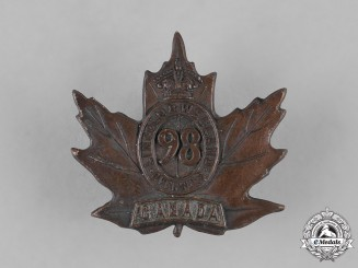 "Canada, CEF. A 98th Infantry Battalion ""Lincoln and Welland"" Battalion Cap Badge, by P.W.Ellis, c.1916"