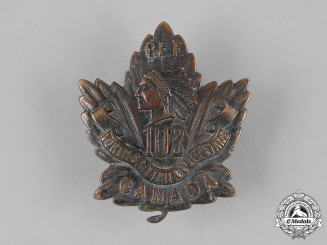 "Canada, CEF. A 102nd Infantry Battalion ""North British Columbians"" Cap Badge"