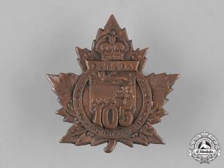 "Canada, CEF. A 105th Infantry Battalion ""P.E.I. Highlanders"" Cap Badge, c.1915"