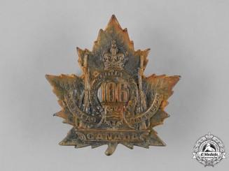"""Canada, CEF. A 106th Infantry Battalion """"Nova Scotia Rifles"""" Cap Badge"""