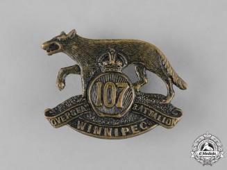 "Canada, CEF. A 107th Infantry Battalion ""Winnipeg Battalion"" Cap Badge, c.1915"
