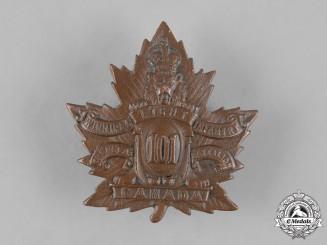 "Canada, CEF. A 101st Infantry Battalion ""Royal Winnipeg Rifles/Winnipeg Light Infantry"" Cap Badge"