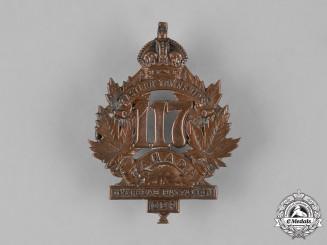 "Canada, CEF. A 117th Infantry Battalion ""Eastern Township Battalion"" Cap Badge, c.1915"