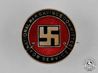 """United Kingdom. A National War Savings Committee """"For Service"""" Badge"""