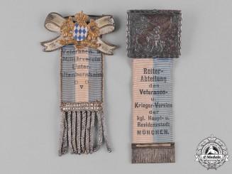 Bayern, Kingdom. A Pair of Bavarian Veterans Organization Membership Badges