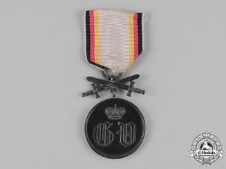 Waldeck, Principality. A Silver Medal of Merit with Swords, c.1915