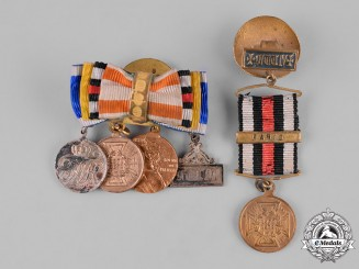 Prussia, Kingdom. A Pair of Miniature Medal Boutonnieres