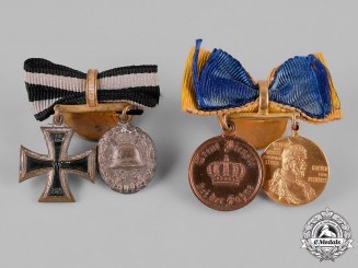 Germany, Imperial. A Pair of Miniature Medal Boutonnieres