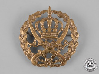 Transjordan, Emirate. An Arab Legion Cap Badge for the Regular Army of Transjordan 1920-1956