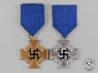 Germany, Third Reich. A Pair of Civil Service Faithful Service Medals
