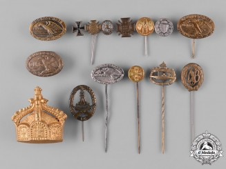 Germany, Imperial. A Large Lot of Stickpins and Badges