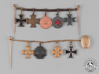 Germany, Imperial. A Pair of Miniature Medal Chains