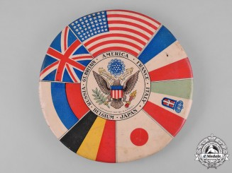 United States. A Large First World War Allies Button