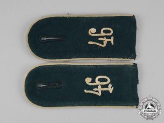 Germany, Heer. A Set of Heer 46th Infantry Division Shoulder Straps