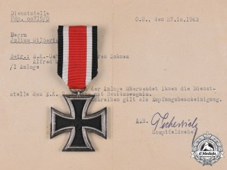 Germany, Wehrmacht. A 1939 Iron Cross II Class with Letter