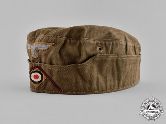 Germany, Heer. A Smoke Troops EM/NCO's Tropical Overseas Cap, by Karl Kubach