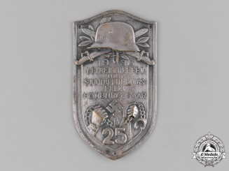Germany, Third Reich. A 1936 Saar Reunification Event Plaque