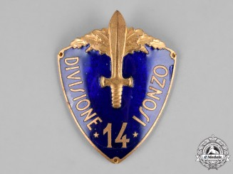 Italy, Kingdom. A 14th Infantry Division Isonzo Sleeve Shield