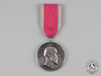 Mecklenburg-Schwerin, Grand Duchy. A Friedrich Franz Merit Medal in Silver