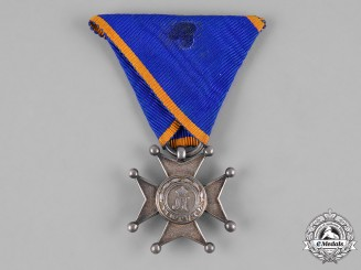 Nassau, Duchy. An Order of Civil and Military Merit, Silver Merit Cross, c.1865