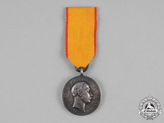 Mecklenburg-Schwerin, Grand Duchy. A Military Merit Medal in Silver, c.1890