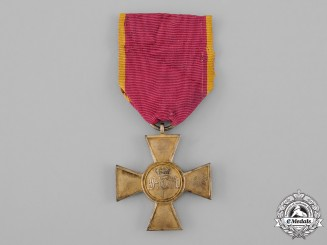 Hesse-Kassel, Landgraviate. A 25-Year Long Service Cross for Officers, c.1855