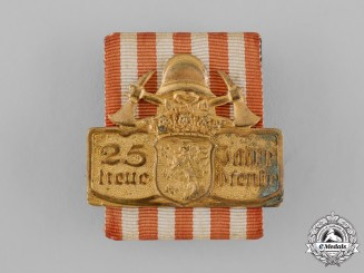 Hesse, Grand Duchy. A Hesse Fire Brigade 25 Year Faithful Service Badge