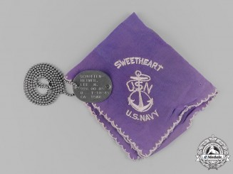 United States. A United States Navy Handkerchief and Identification Tag