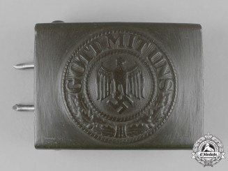 Germany, Heer. A Heer EM/NCO's Belt Buckle by Berg & Nolte