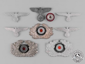 Germany, Wehrmacht. A Lot of Wehrmacht Cap Insignia