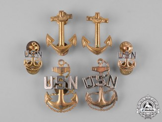 United States. A Lot of United States Navy Badges