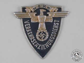 Germany, NSKK. A National Socialist Motor Corps (NSKK) Traffic Education Service Arm Shield