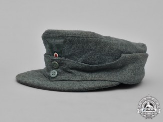 Germany, Heer. An EM/NCO's M43 Field Cap, ca. 1944