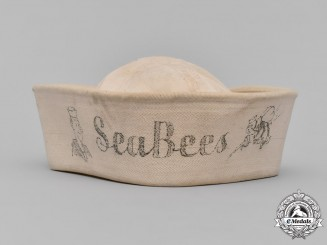United States. A United States Naval Construction Battalions (Seabees) EM/NCO's Service Cap, c. 1943