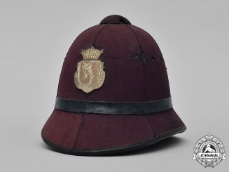 Netherlands, Kingdom. A 's-Gravenhage (The Hague) First Model Municipal Police Pith Helmet, c.1930