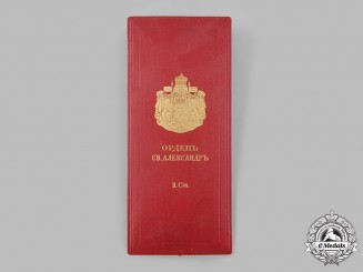 Bulgaria, Kingdom. An Order of St. Alexander, II Class Grand Officer Case, by Rothe