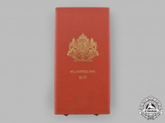 Bulgaria, Kingdom. A National Order for Civil Merit, II Class Grand Officer Case, c.1920